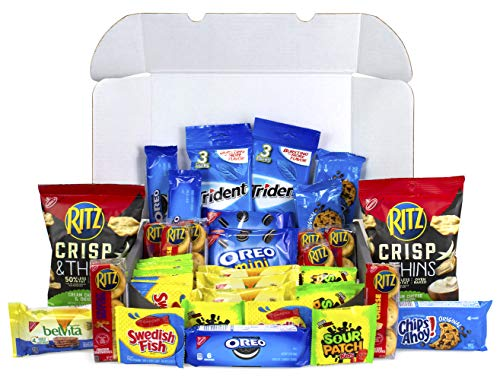 Cookies, Crackers & Candy Care College Package Snacks Variety Pack - Oreo, Ritz, Sour Patch Kids & More (40 Count)