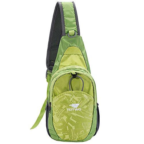 YHLCSQ Small Sling Bag Crossbody Sling Backpack, Backpack for Traveling Mini Sling Purse Chest Bags for Men&Women Child's Boys Girls Multipurpose Casual Daypack Hiking Shoulder Bag (Green)