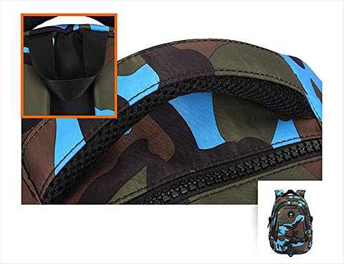 Camouflage Backpack, Large Capacity Water-Resistant Student Children School Bag by MATMO (Image #4)
