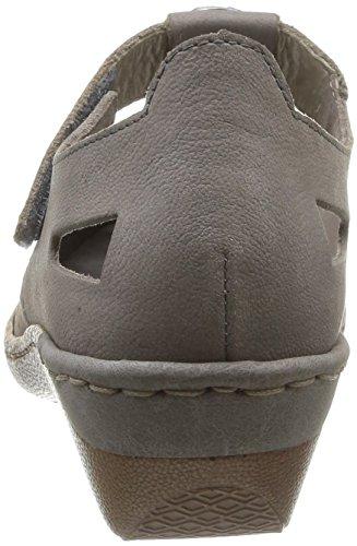 Rieker 48369/42 Damen Schnürhalbschuhe Grau - grau