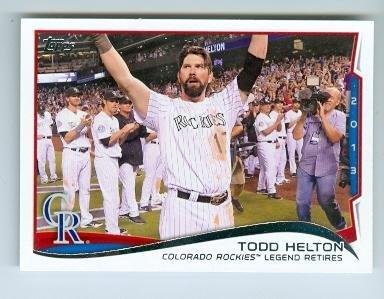 (Todd Helton baseball card (Colorado Rockies All Star) 2014 Topps #253 Retirement Night)