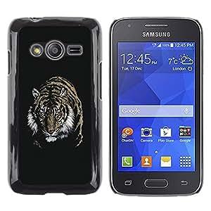 TECHCASE**Cubierta de la caja de protección la piel dura para el ** Samsung Galaxy Ace 4 G313 SM-G313F ** Fierce Tiger
