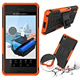 Sony Xperia X Performance Case, SsHhUu Tough Heavy Duty Shock Proof Defender Cover Dual Layer Armor Combo Protective Hard Case Cover for Sony Xperia X Performance / F8132 (5.0 Inch) Orange