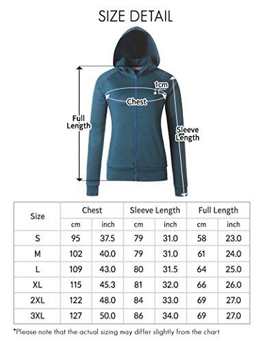 Regna X Love Coated Women Benton Springs Full-Zip Hoodie Fleece Jacket Black S by Regna X (Image #7)
