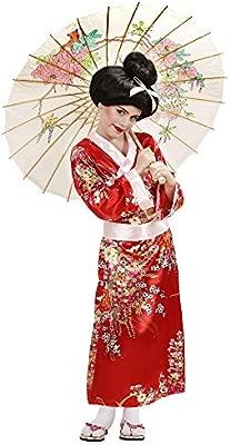 WIDMANN Video Delta Geisha Disfraz Pequeño 7.5 años de los niños (128cm) para Oriental del Vestido China