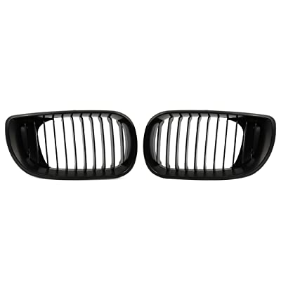 uxcell Matte Black Front Hood Kidney Grille Grill Fit for 02-05 BMW E46 4D Sedan 318i 320i 323i 328i: Automotive