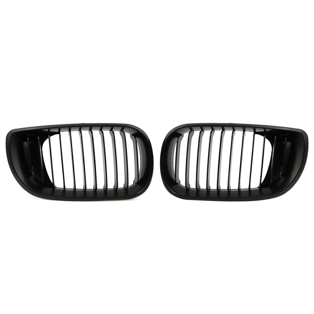 uxcell Matte Black Front Hood Kidney Grille Grill Fit For 02-05 BMW E46 4D Sedan 318i 320i 323i 328i by uxcell