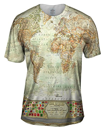Yizzam- Ash World Map -TShirt- Mens Shirt-Large