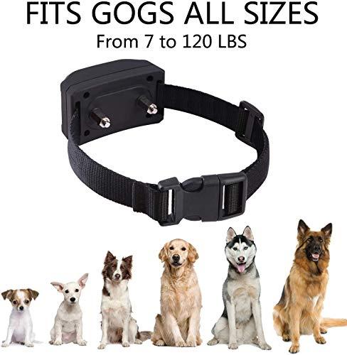 Nevoc Dog Bark Collars Rechargeable Training Bark Collar Upgraded No Harm Shock Collar, Beep/Vibration/Shock to Anti Barking IPX7 Waterproof for Large/Medium/Small Dog of All Breeds (Black)