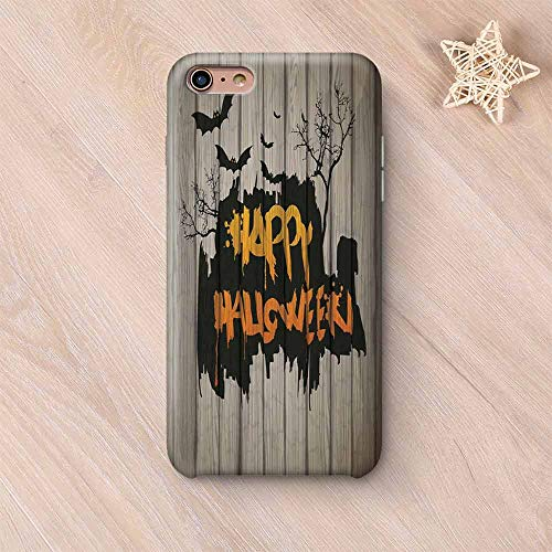 Halloween Decorations Non Fading Compatible with iPhone Case,Happy Graffiti Style Lettering on Rustic Wooden Fence Scary Evil Artwork Compatible with iPhone 6 Plus / 6s Plus,iPhone 6 Plus / 6s Plus]()