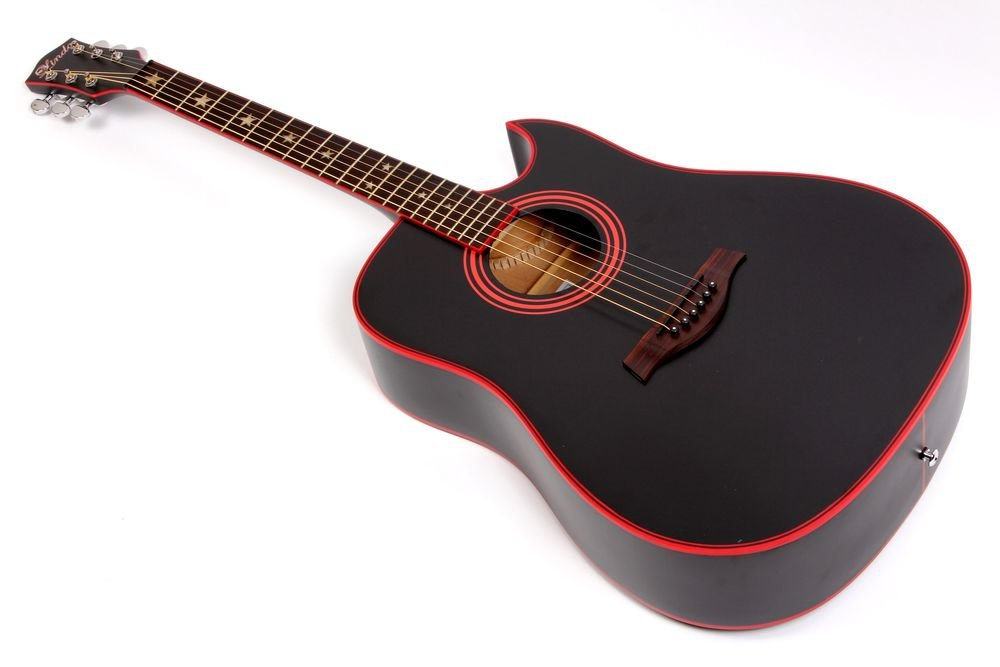 Lindo LDG 46 Widow Acoustic Guitar With A Grade Rosewood Fingerboard And Free Accessories