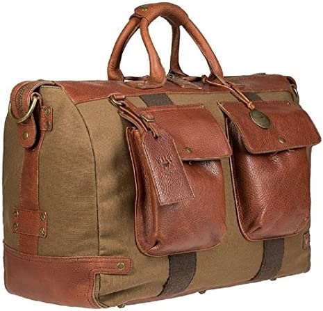 Will Leather Goods Men s Canvas Traveler Duffel Bag