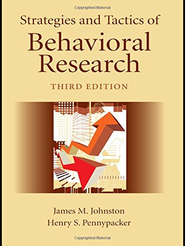 805858822 - Strategies and Tactics of Behavioral Research, Third Edition