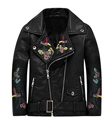 The Twins Dream Girls Leather Jacket Kids Leather Jackets Boys Motorcycle Jacket Girls Coat