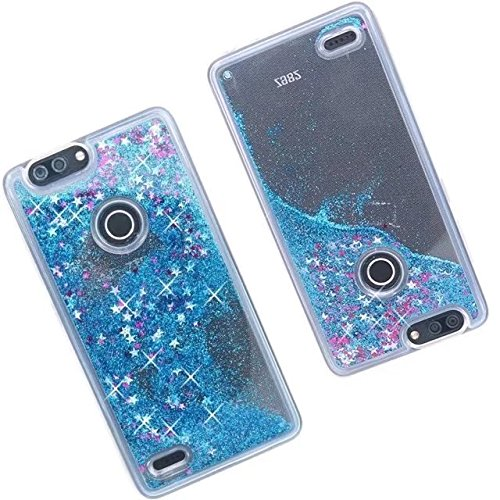 ZTE Blade Z Max Case,Binguowang Quicksand Wineglass Design Flowing Liquid  Floating Luxury Bling Glitter Sparkle Stars Clear Hard Case Cover for ZTE