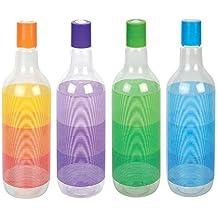 Aquapet Beer Shaped Plastic Fridge Bottle Cheers,Set Of 4 Bottles,Multi-Color