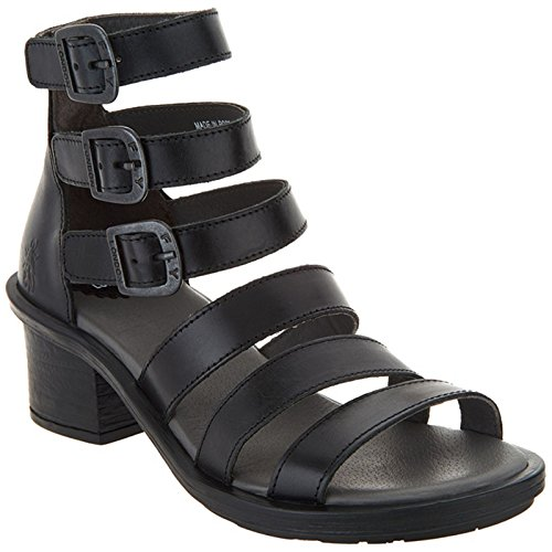 Fly London Womens Ceda 182 Leather Sandals Black