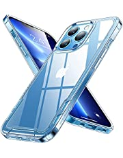 Humixx Crystal Clear Compatible for iPhone 13 Pro Case, Upgraded [ Non-Yellowing] [ Military Grade Shockproof] [ Non-Slip Design] Hard PC Back Case for iPhone 13 Pro 6.1 Inch 5G - Clear