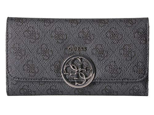 GUESS Kamryn 4G Logo Multi Clutch Wallet, Coal , One Size