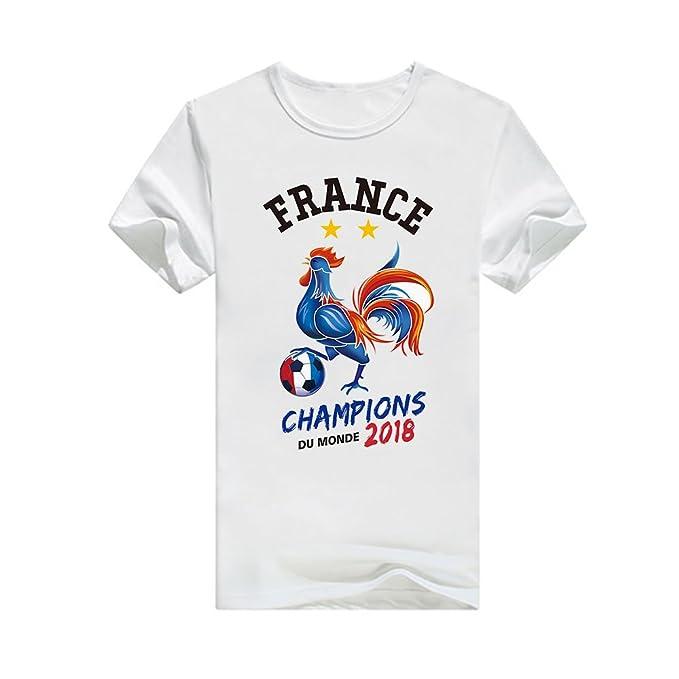 meilleur prix matériaux de haute qualité Livraison gratuite dans le monde entier laamei Femme Homme T-Shirt Football Russie Coupe du Monde France 2018  Champions DE LA Coupe du Monde