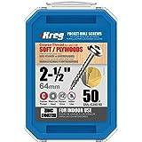 Kreg SML-C250-50 2 1/2-Inch Pocket Screws No.8 Coarse, Washer Head, 50 Count