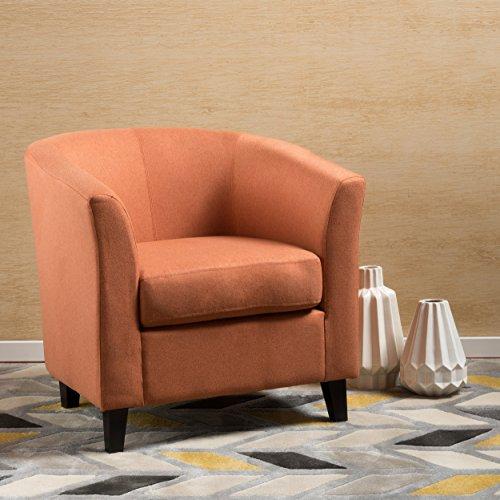 Petaluma | Fabric Club Chair | in Orange