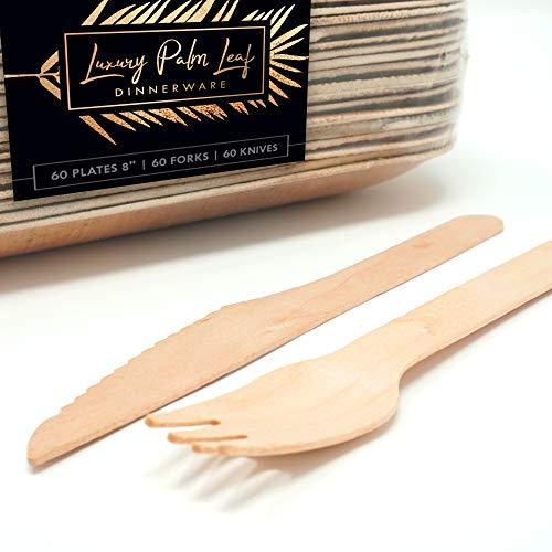 LemonBay Luxury Palm Leaf Disposable Plates, Party Set, 8