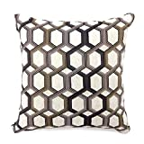 Furniture of America Janner 18'' Square Throw Pillow in Gray (Set of 2)