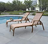 Deck Lounge Chair This Set of 2 Patio Lounge Chairs Made of Stain Resistant and Quick Drying Fabric Are Perfect to Lay Out in the Sun By the Pool! Constructed of Sturdy Steel, This Set Will Enhance Any Deck and Last a Very Long Time.