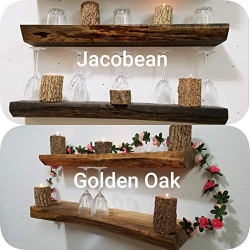 Lodge Shelf - Live Edge Rustic Re-Purposed Solid Wood Floating Shelf (more colors and sizes available)