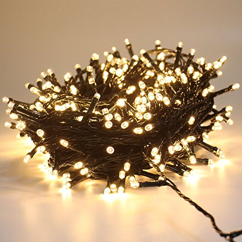 GC 108ft 300 LED Christmas String Lights, Waterproof Fairy Rope Lights Outdoor Indoor for Christmas Tree Decoration,Bedroom, Party, Wedding, Holiday Decor (Warm White)
