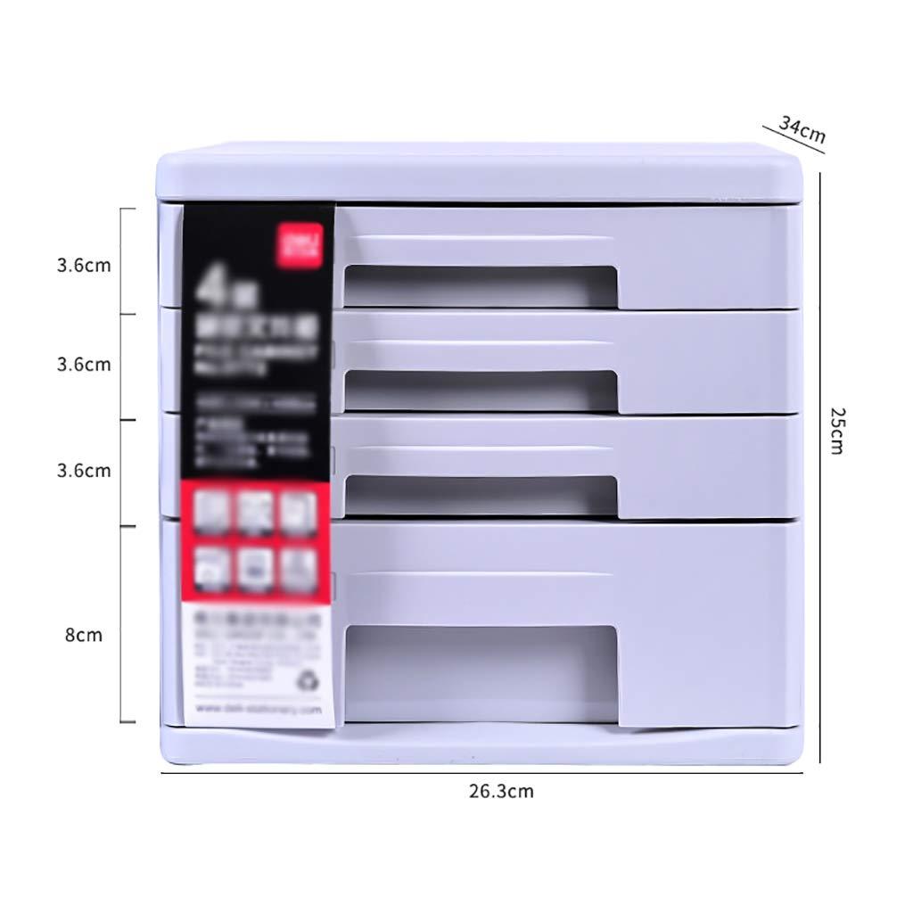 FPigSHS Cassettiera Armadi archivio portaoggetti mobili Ufficio Archivio 4/5 cassetti in plastica da scrivania con cassetto Tipo Elevata capacità può memorizzare File A4 2 Colori Disponibili