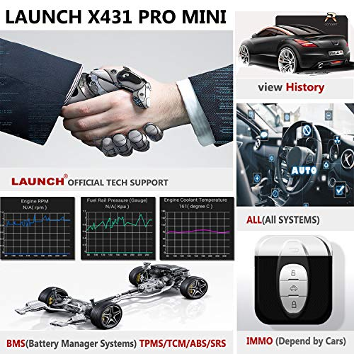 LAUNCH X431 PRO Mini Bi-Directional Diagnostic Tool Full Systems OBD2 Scanner IMMO Reset Key Progm ECU Coding (Upgraded PROS Mini)-Free Update 2 Years by LAUNCH (Image #3)