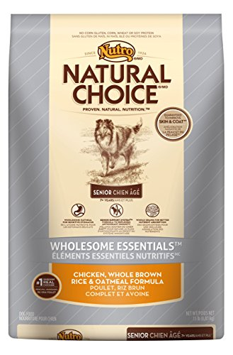 NATURAL CHOICE Senior Wholesome Essentials Chicken, Whole Brown Rice and Oatmeal Formula, 15 lbs.