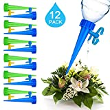 Essieny Plant Self Watering Spikes, 12PCS Plant Waterer with Slow Release Control Valve Switch for Garden Plants