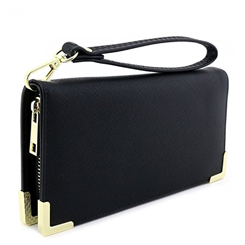 Saffiano Leather Wallet Wristlet Hardware product image