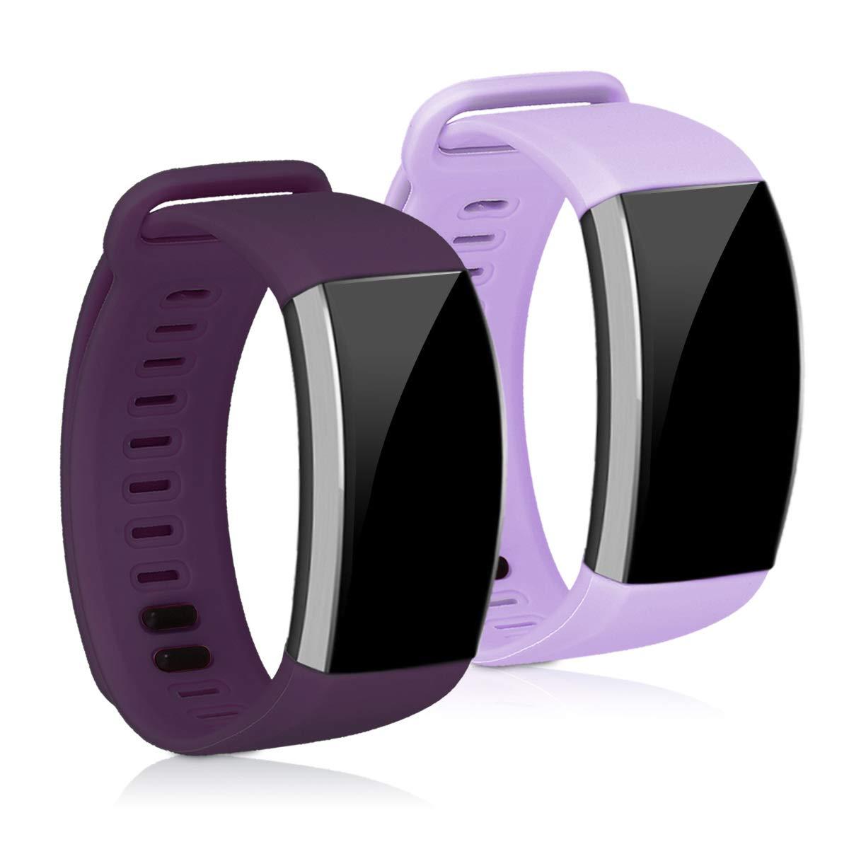 kwmobile 2X Pulsera para Huawei Band 2 / Band 2 Pro - Brazalete de Silicona púrpura Pastel/Violeta sin Fitness Tracker