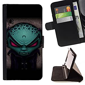 Momo Phone Case / Flip Funda de Cuero Case Cover - Divertido vampiro extranjero Evil - Apple Iphone 5 / 5S