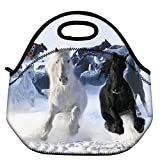 Best ICOLOR Kid Lunches - ICOLOR Running Horse Boys Insulated Neoprene Lunch Bag Review