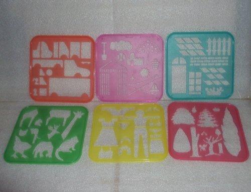 tupperware-tuppertoys-stencil-art-rare-set-6-stencils