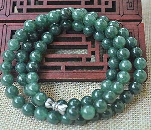 - 100% Natural Green Jade Women Necklace Nephrite Jade Bead Necklace Bracelet Women Jewelry