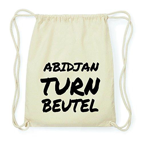 JOllify ABIDJAN Hipster Turnbeutel Tasche Rucksack aus Baumwolle - Farbe: natur Design: Turnbeutel