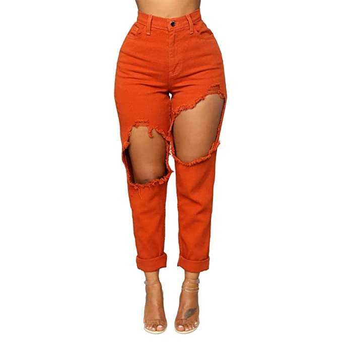 Pantalones Chandal Mujer, Zolimx Moda Mujer Estirar Jeans Mujer ...