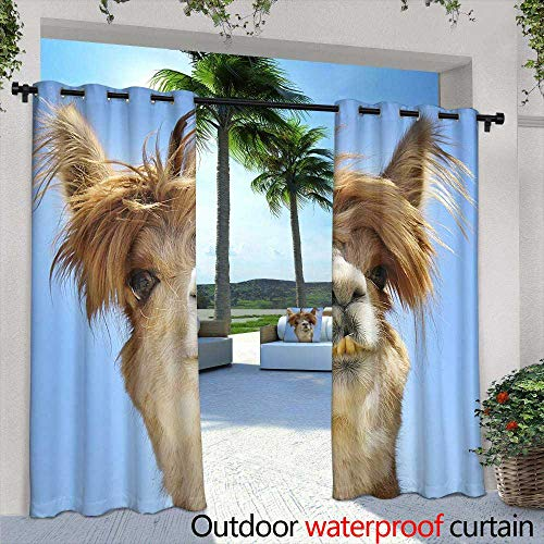 (Lightly Outdoor Balcony Privacy Curtain,Colorful Billiard Balls on a Pool Table,W96 x L96 Outdoor Curtain Waterproof Rustproof Grommet Drape)