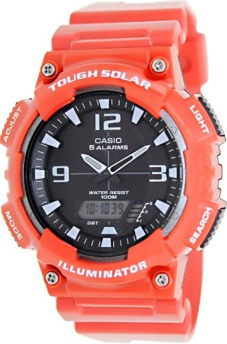 Casio AQ-S810WC-4AV Men s Red Solar Analog Digital World Time Sports Watch