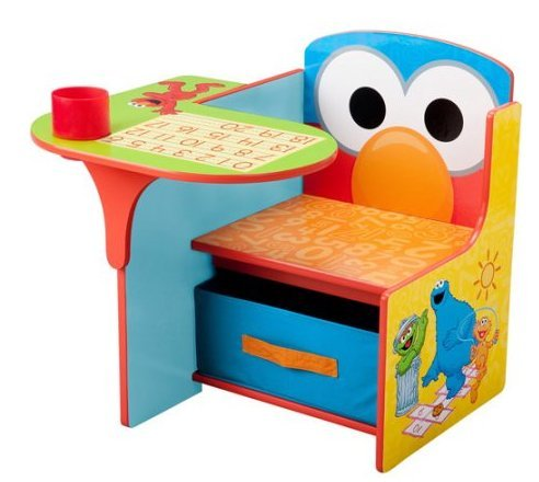 (Sesame Stree Desk and Chair with Storage Bin)