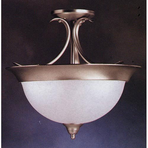 Kichler 3623NI, Dover Round Glass Semi Flush Ceiling Lighting, 3 Light, 180 Watts, Brushed (Kichler Nickel Ceiling Light)