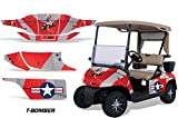 AMR Racing Golf Cart Graphics kit Sticker Decal Compatible with E-Z-GO TXT 1994-2013 - T-Bomber Red