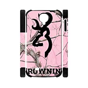 Pink Camo Camouflage Browning Cutter Logo Dual-Protective Case for Samsung Galaxy S4 I9500