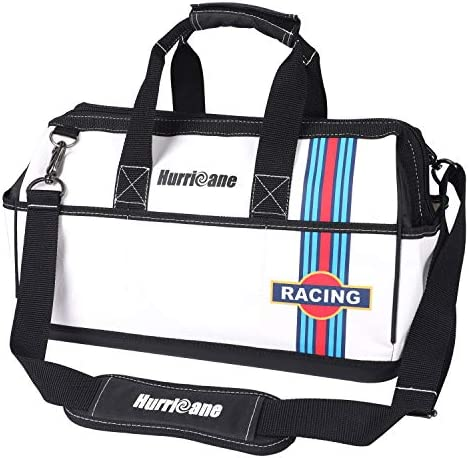 Hurricane 16 Inch Wide Mouth Tool Bag Racing theme Multi Pockets Large Inner Space Water Proof Base with Extra Shoulder Strap